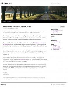 Ungestylte WordPress Homepage