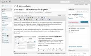 Wie bearbeite ich einen Artikel in WordPress