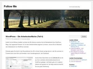 Der Blog vor der Designumstellung