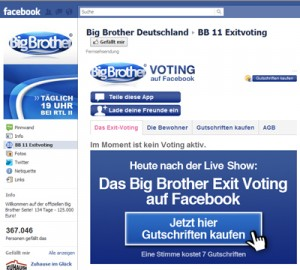 Big Brother Deutschland auf Facebook