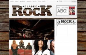 Die Webseite des Classic Rock Magazins