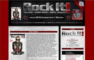 Webseite des Rock it! Magazins