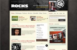 Webseite des Rocks Magazins