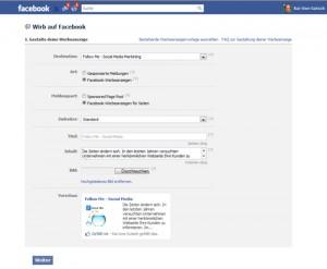 Anzeigenwerbung auf Facebook