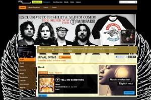 Die Homepage der Rival Sons