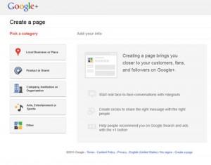 Auf Google + eine Unternehmensseite erstellen