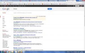 Google Chrome bei Google nicht mehr auf Topposition