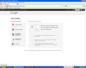 Anleitung eine Google + Unternehmensseite zu erstellen