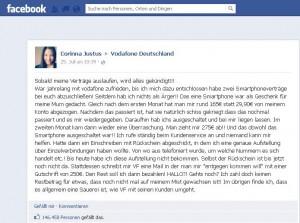 Vodafone erlebt Shitstorm auf Facebook