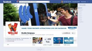 Walibi belgische Facebookseite