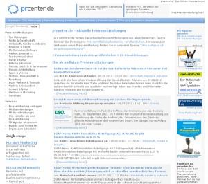 Online Presseportale: prcenter.de