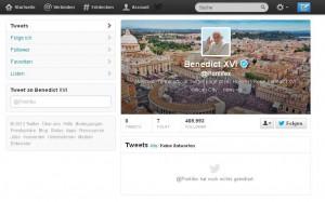 Papst Benedict auf Twitter