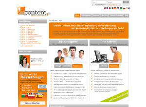 Content Anbieter auf content.de